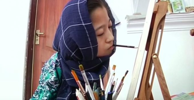 Differently abled Afghan artist dreams of global fame