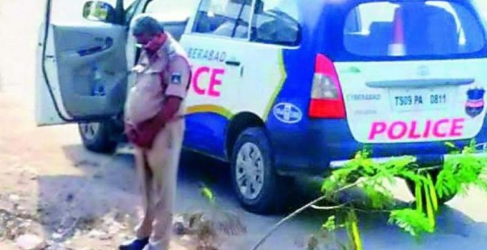 Hyderabad: Peeing cop's pic goes viral on social media