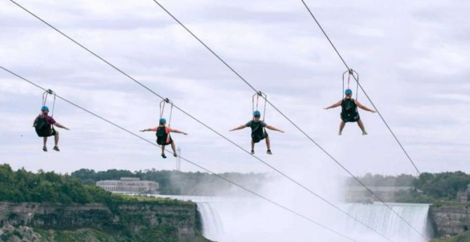 Now Niagra falls adds a zip line to give visitors an adrenaline rush