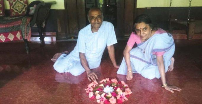Pookkalam is an everyday affair in Purameri Kovilakam