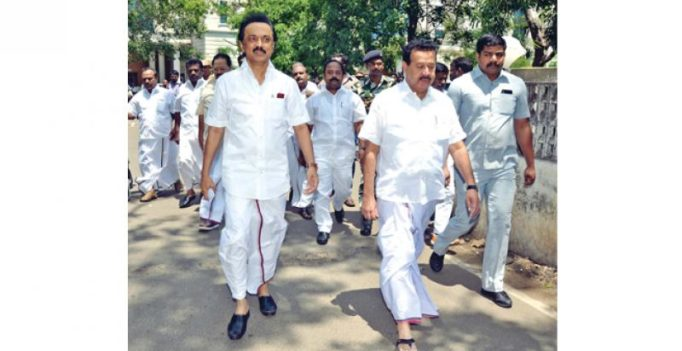 DMK walks out of Assembly