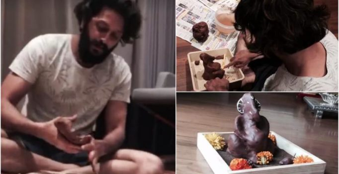 Watch: In easy steps, Riteish demostrates how to make eco-friendly Ganpati