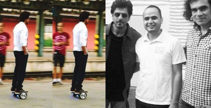 SRK zooms around on his hoverboard while shooting for Imtiaz Ali's next