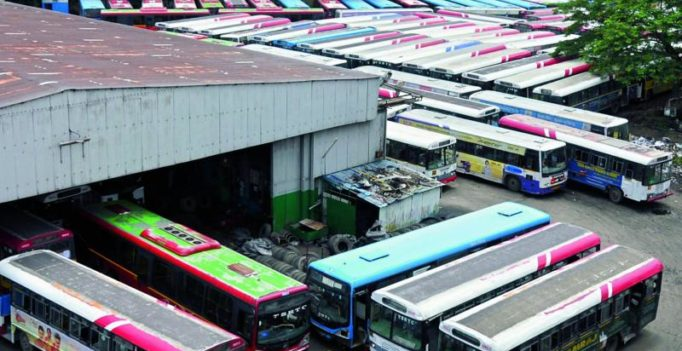 Trade unions strike shuts transport, affects Hyderabad