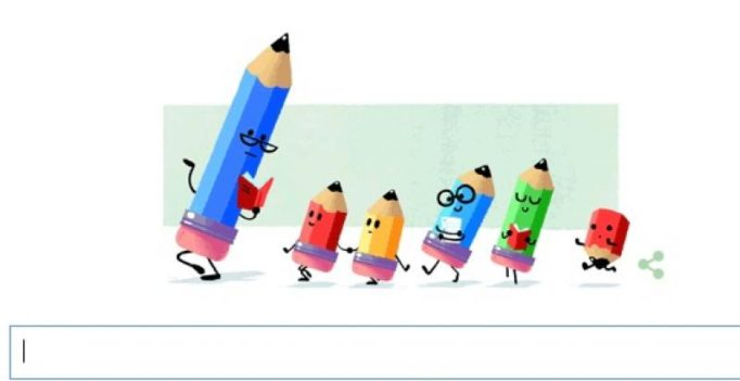Google brings a doodle to mark Teacher's Day in India