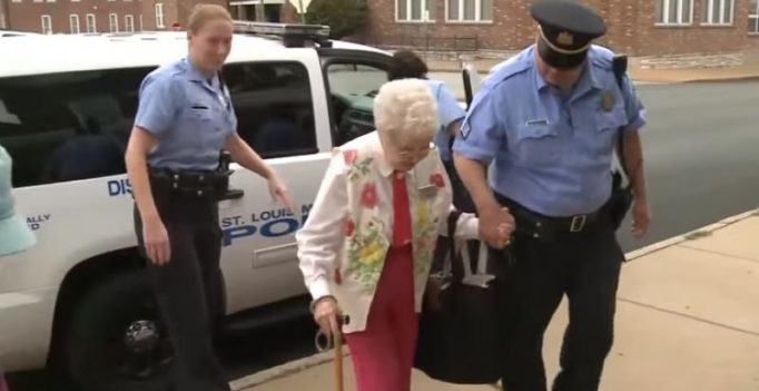 102-year-old woman gets arrested to fulfil bucket list wish