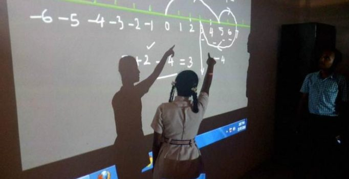 Students learn maths via Hindi video lectures in Naxal-hit Chattisgarh district