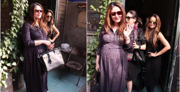 Too adorable! Mommy-to-be Kareena Kapoor's day out with sis Karisma and BFF Amrita