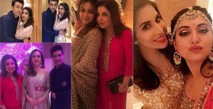 Ranbir, Gauri Khan, Sonakshi and others at Ambani's star-studded bash