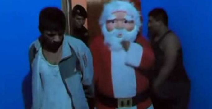 Video: 'Santa Claus' in Peru catches drug traffickers