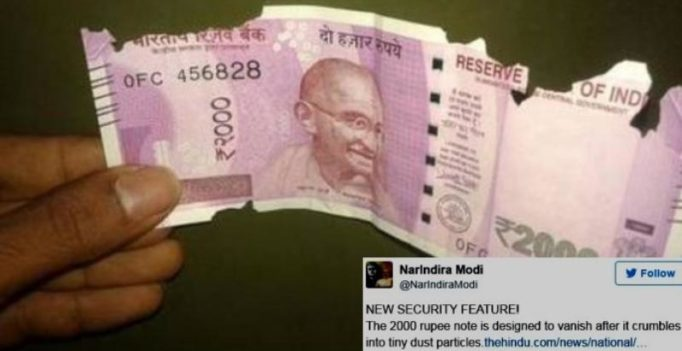 Post radioactive ink rumour, Kerala woman alleges Rs 2000 note crumbling