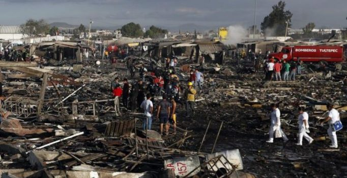 At least 26 dead, 70 injured in blast at fireworks market in Mexico