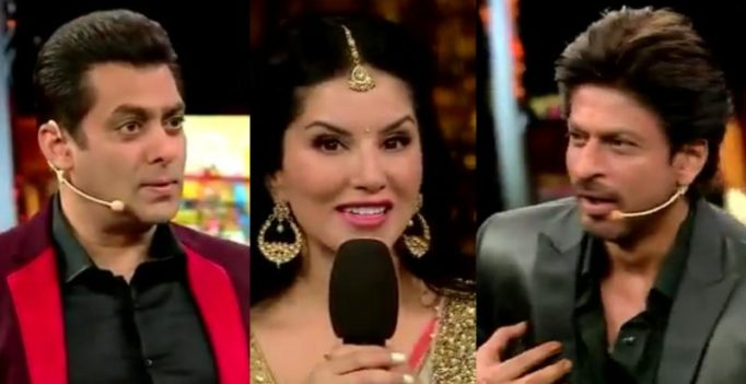 Watch: Salman, Shah Rukh and Sunny hilariously recreate Deewar cult scene