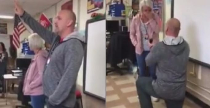 Video: Science teacher proposes to maths teacher in front of the class