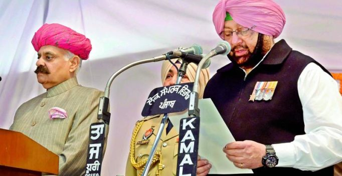 Captain Amarinder Singh takes charge as Punjab CM again