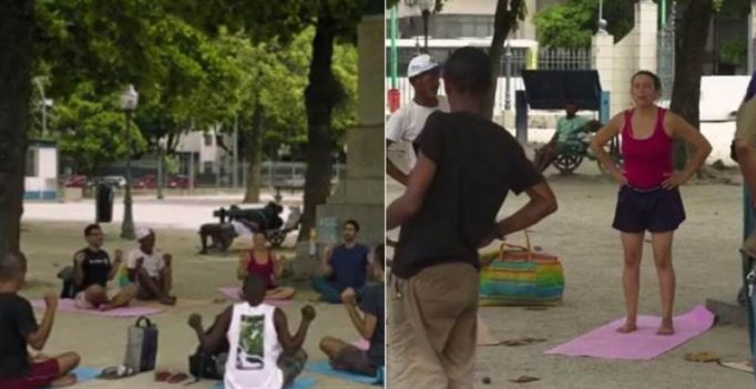 Video: Volunteers teach Yoga to homeless people in Brazil for free