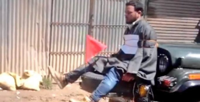 J&K: Case against army after video of man tied to jeep goes viral
