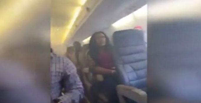 Video: Flight engine catches fire, passengers chant prayers, sob mid air in Nigeria