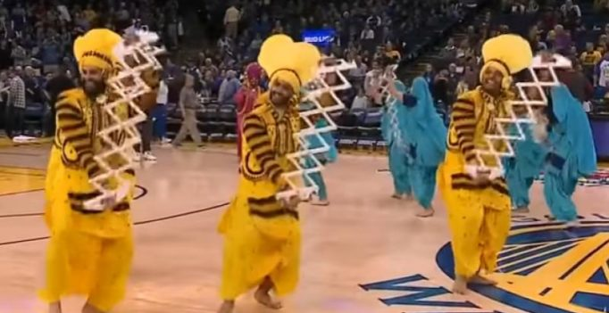 Indo-American group dancing to bhangra during NBA match is going viral