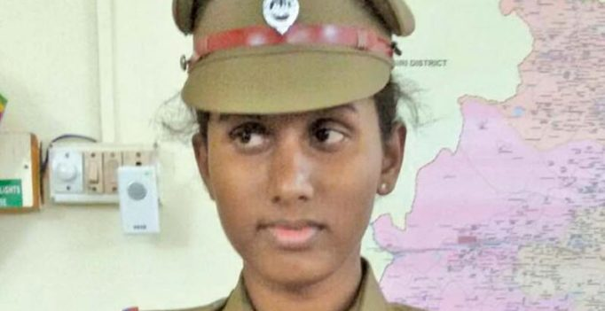 India's first transgender joins Tamil Nadu police force