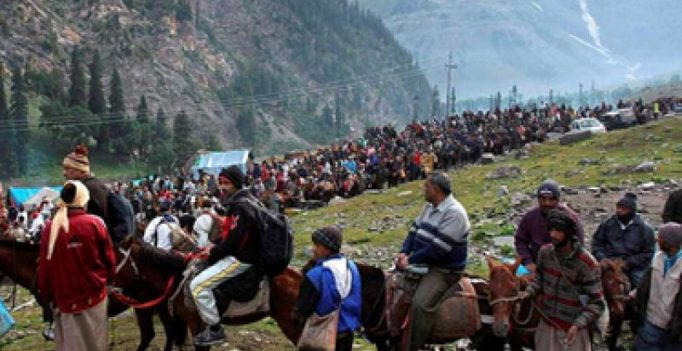 Annual yatra to Amarnath begins today from twin routes of Pahalgam, Baltal
