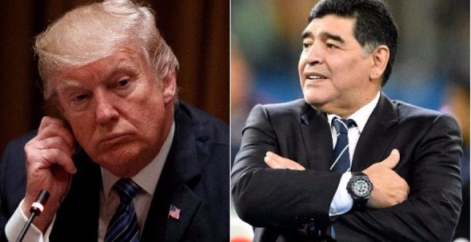 US President Donald Trump is a cartoon, says Argentina football legend Diego Maradona