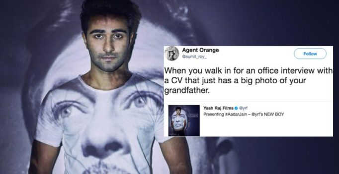 YRF launches Raj Kapoor's grandson Aadar Jain, Twitter loses it over nepotism jokes