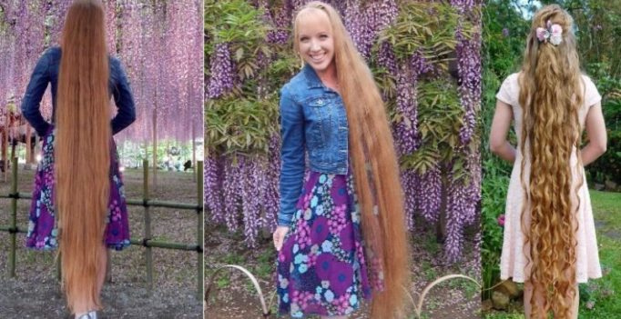 Woman reveals secret to keeping her 64-inch long hair healthy
