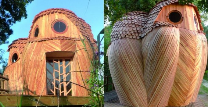 Take refuge in owl-shaped cabins for free in French port city Bordeaux