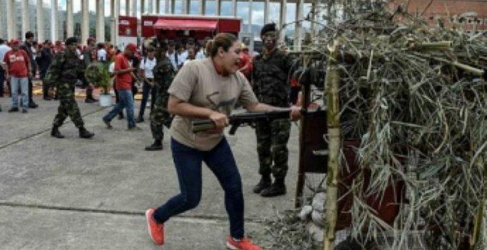 Venezuelan army, civil militias hold exercises after Trump threat