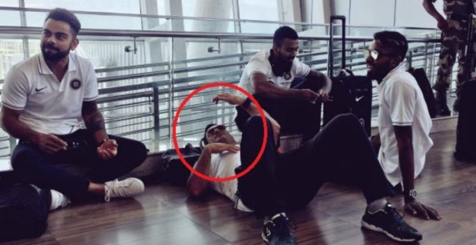 From cricket field to airports – Mahendra Singh Dhoni can sleep anywhere