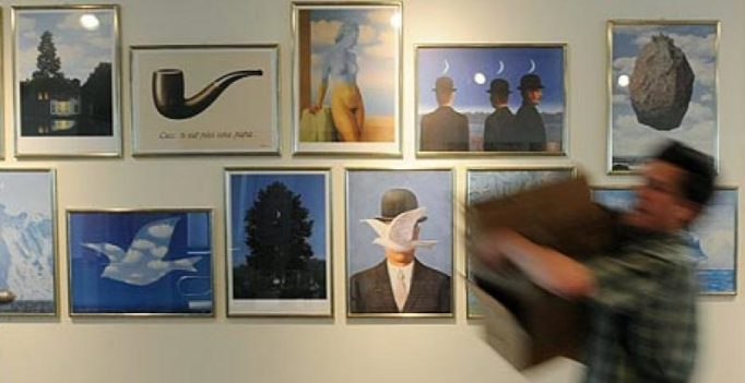 Surrealist artist Rene Magritte's exhibit opens in Brussels 50 years after his death