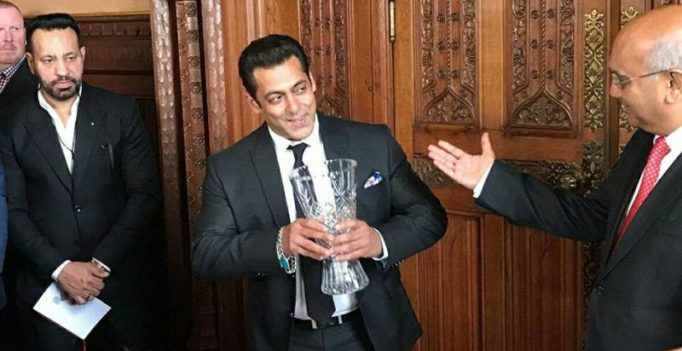 Salman Khan honoured with Global Diversity Award by British Parliament House