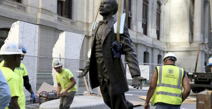 Philadelphia honours black civil rights activist with first ever City Hall statue