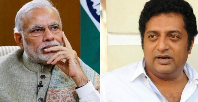 Case registered against Prakash Raj over his comments on PM Narendra Modi