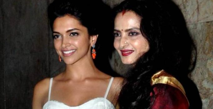 Absolutely beautiful! Rekha gifts Deepika a saree and people can't stop gushing