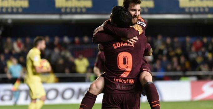 La Liga: Lionel Messi, Luis Suarez steer Barcelona to 2-0 win over Villarreal