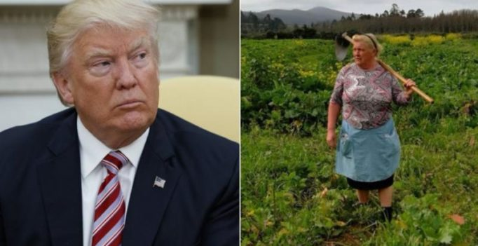 US President Donald Trump has a doppelganger, in Spain