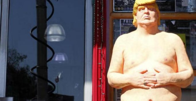 Naked statue of Donald Trump up for auction
