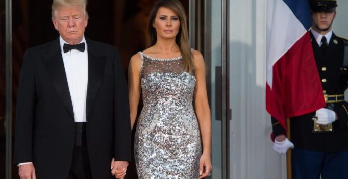 US First Lady Melania Trump dazzles at state dinner