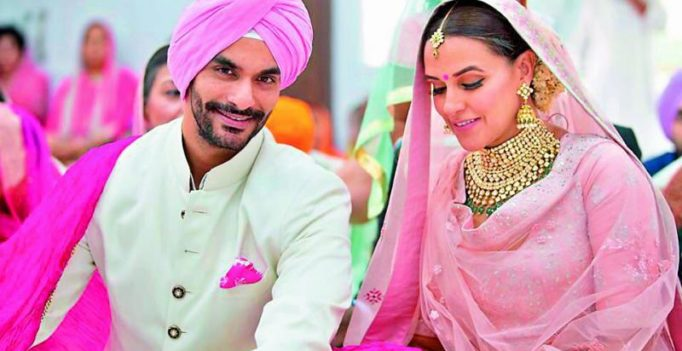 Neha Dhupia's pregnancy the reason for her sudden marriage to Angad Bedi?