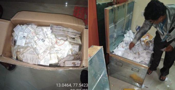 Karnataka polls 2018: EC seizes 10,000 voter IDs from Bengaluru apartment