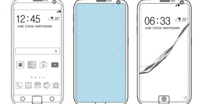 Samsung patent reveals fingerprint scanner embedded partially into the screen