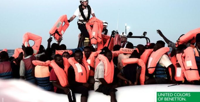 Clothing brand Benetton condemned for using rescued migrants in adverts