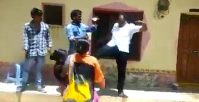 Telangana local body chief kicks woman in chest over land dispute