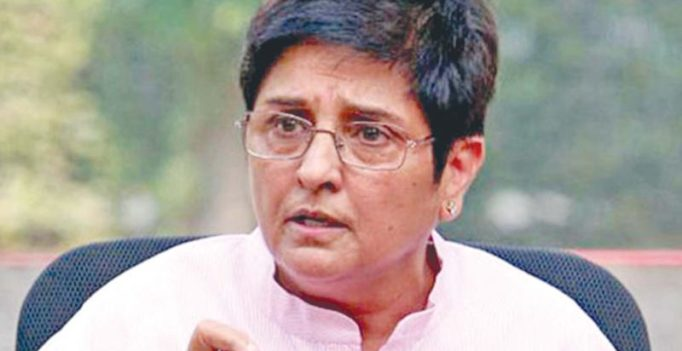 Kiran Bedi visits Pims to inspect water management systems