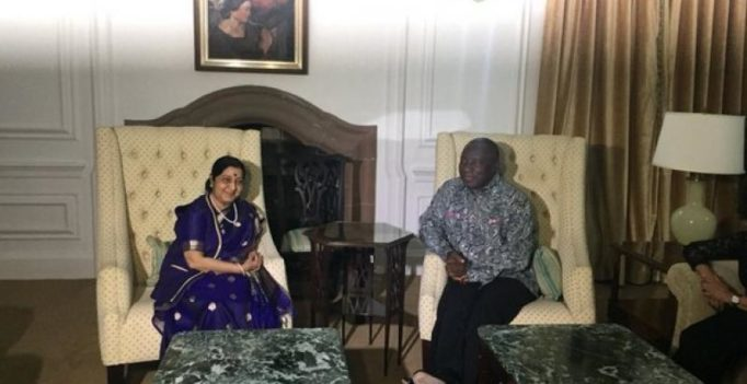 Sushma Swaraj discusses strengthening of bilateral ties with South African President