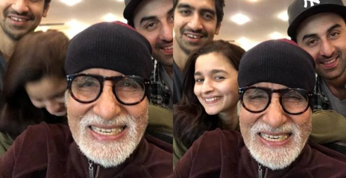 Brahmastra: Not just being goofy, Amitabh Bachchan also goofs up with Ranbir, Alia