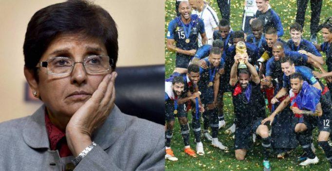 Kiran Bedi congratulates 'Puducherrians' France on World Cup win, Twitter hits back