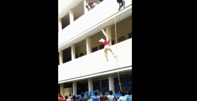 On camera, 19-yr-old pushed to death during disaster drill in Coimbatore